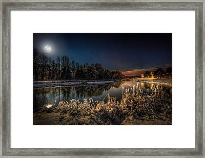 First Snow Framed Print by Everet Regal