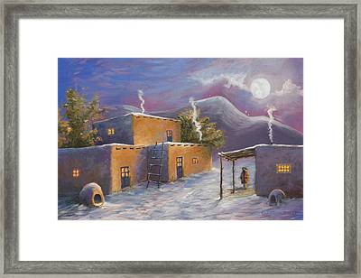 First Snow Framed Print by Jerry McElroy