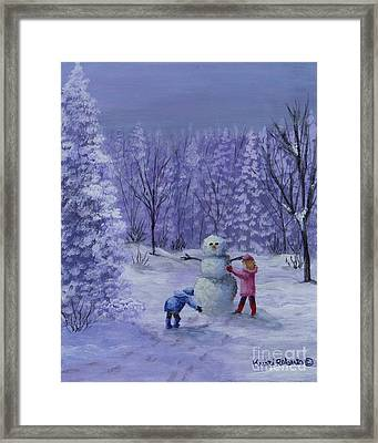 First Snow Framed Print by Kristi Roberts