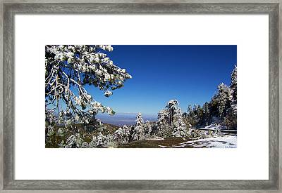 First Snow Of The Season Framed Print by Glenn McCarthy Art and Photography