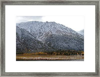 First Snow Framed Print by Rick  Monyahan
