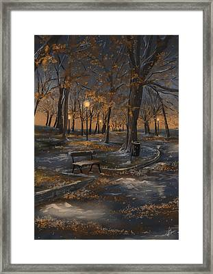 First Snowfall Framed Print by Veronica Minozzi