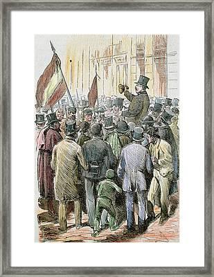 First Spanish Republic (february 11 Framed Print by Prisma Archivo