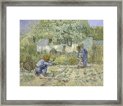 First Steps Van Gogh Framed Print by Georgia Fowler
