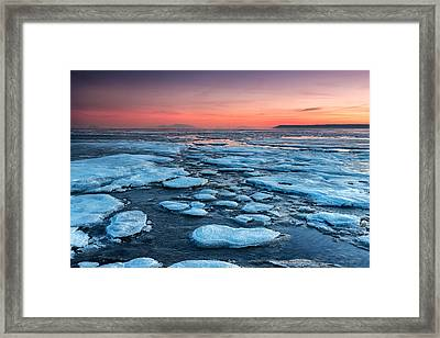 First Sunset Of The Year Framed Print by Pierre Leclerc Photography