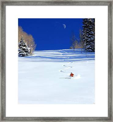 First Tracks Framed Print by Johnny Adolphson