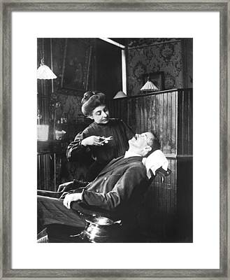 First Women Dentists Framed Print by Underwood Archives