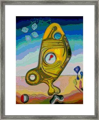 Fish Abstract #2 Framed Print by George Curington