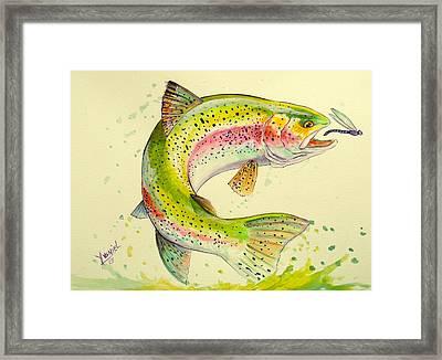 Fish After Dragon Framed Print by Yusniel Santos