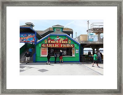 Fish And Fries At The Santa Cruz Beach Boardwalk California 5d23687 Framed Print by Wingsdomain Art and Photography
