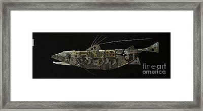 Fish Dx Framed Print by Vladimiras Nikonovas