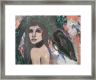 Fish Head Woman Framed Print by Amy Sorrell