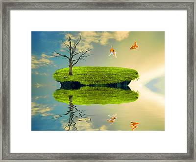Fish Out Of Water Framed Print by Sharon Lisa Clarke
