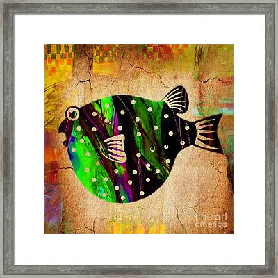 Fish Paintings Framed Print by Marvin Blaine
