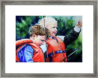 Fish Tales Framed Print by Hanne Lore Koehler