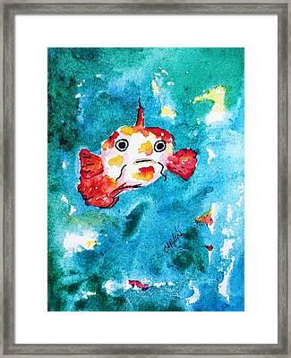 Fish Traveler - Abstract Framed Print by Carlin Blahnik