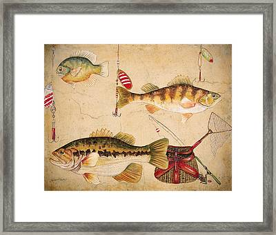 Fish Trio-a Framed Print by Jean Plout