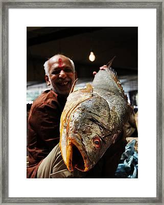 Fisherman Framed Print by Money Sharma
