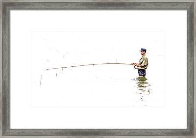 Fisherman Framed Print by Paul Frederiksen