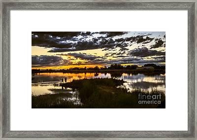 Fisherman Sunset Framed Print by Robert Bales