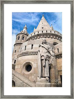 Fisherman's Bastion In Budapest Framed Print by Michal Bednarek