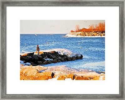 Fishermans Cove Framed Print by Frozen in Time Fine Art Photography