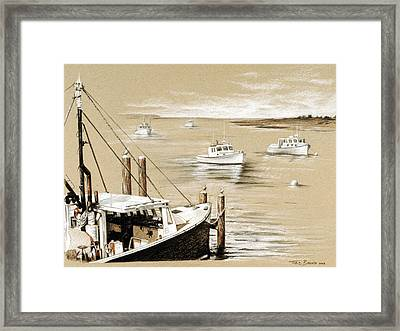 Fisherman's Wharf Chatham Mass. Framed Print by Todd Bachta