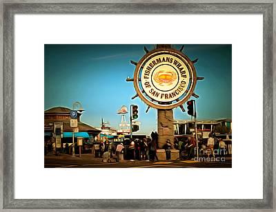 Fishermans Wharf San Francisco California Dsc2032brun Framed Print by Wingsdomain Art and Photography