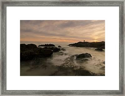 Fishermen Framed Print by Aaron S Bedell