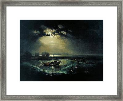 Fishermen At Sea 1796  Framed Print by J M W Turner