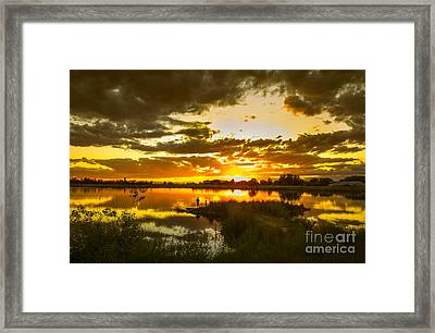 Fishermen Sunset II Framed Print by Robert Bales