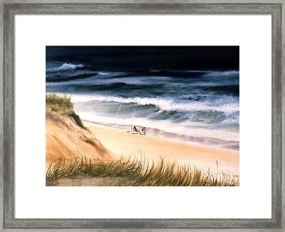 Fishermen's Wait Framed Print by Karol Wyckoff