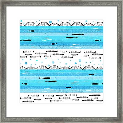 Fishes In The Sea Framed Print by Laurence Lavallee