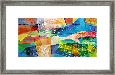 Fishes Panorama Framed Print by Lutz Baar