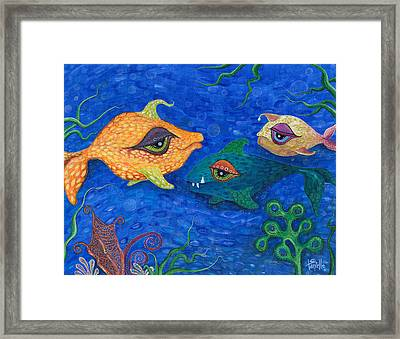Fishin' For Smiles Framed Print by Tanielle Childers