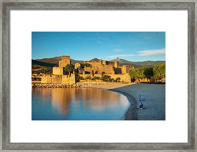 Fishing At Dawn Below The Royal Castle Framed Print by Brian Jannsen