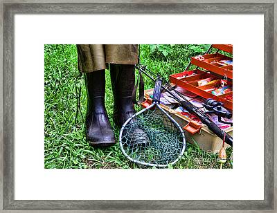 Fishing - Better Than Working Framed Print by Paul Ward