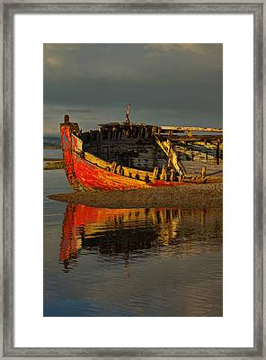 Fishing Boat At Crow Point - North Devon Framed Print by Pete Hemington