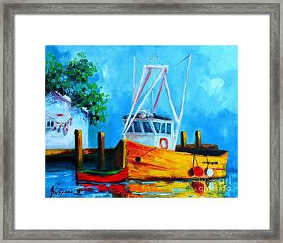 Fishing Boat At Pier 39 Framed Print by Patricia Awapara
