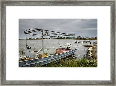 Fishing Boat With Catch Framed Print by Kathleen K Parker