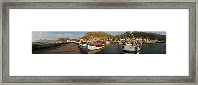 Fishing Boats At A Harbor, Kalk Bay Framed Print by Panoramic Images