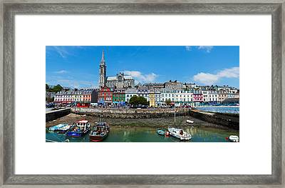 Fishing Boats At A Harbor Framed Print by Panoramic Images
