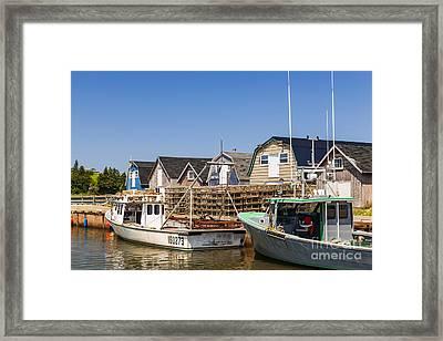 Fishing Boats Docked In Prince Edward Island  Framed Print by Elena Elisseeva