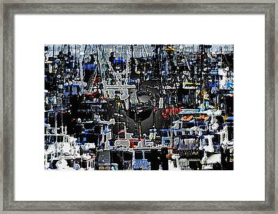 Fishing Boats In Harbor Framed Print by Tom Janca