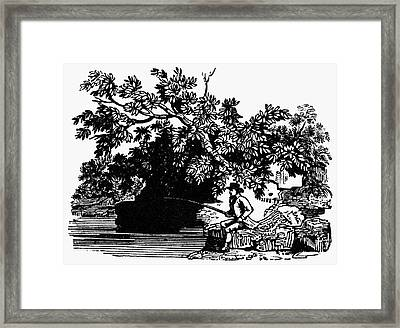 Fishing, C1800 Framed Print by Granger
