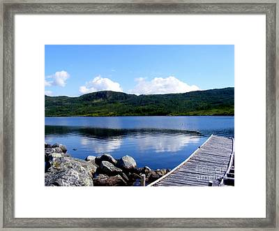 Fishing Day - Calm Waters - Digital Painting Framed Print by Barbara Griffin