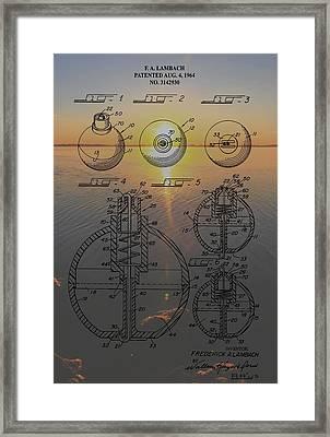 Fishing Float Patent Sunrise Framed Print by Dan Sproul