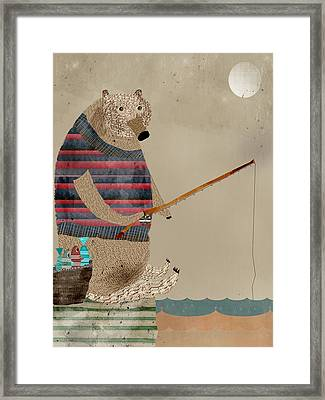 Fishing For Supper Framed Print by Bri B