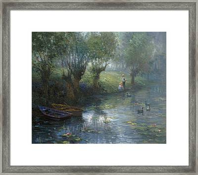 Fishing Framed Print by Ghambaro