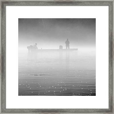 Fishing In The Fog Framed Print by Mike McGlothlen